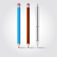 Creative pencil vector