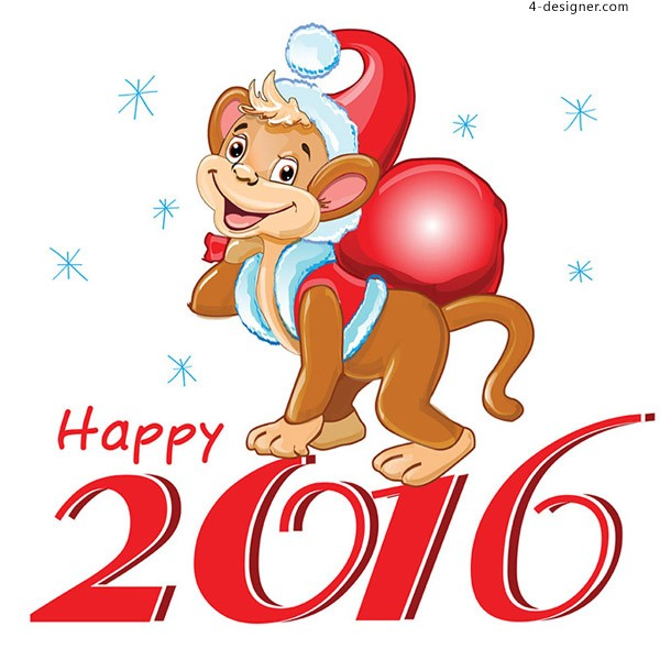2016 cartoon monkey