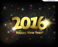 2016 new year font