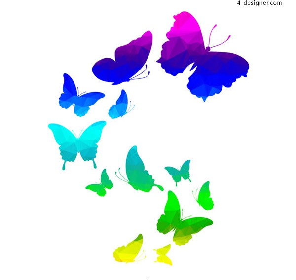A flying butterfly
