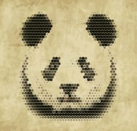 Abstract panda portrait
