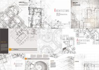 Architectural design drawings vector