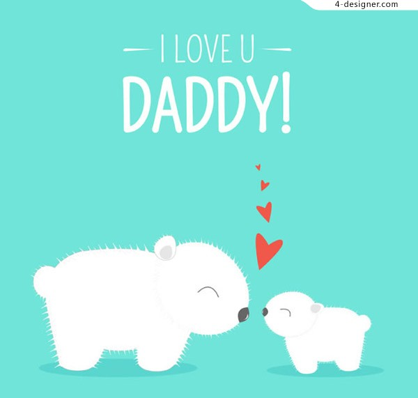 Bear a father s Day card
