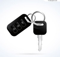 Black car keys