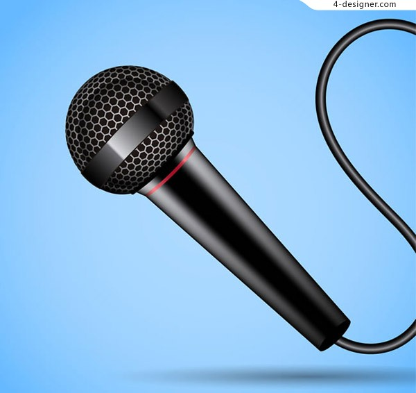 Black wired microphone