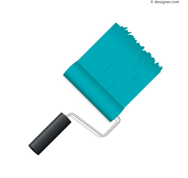 Blue paint roller brush