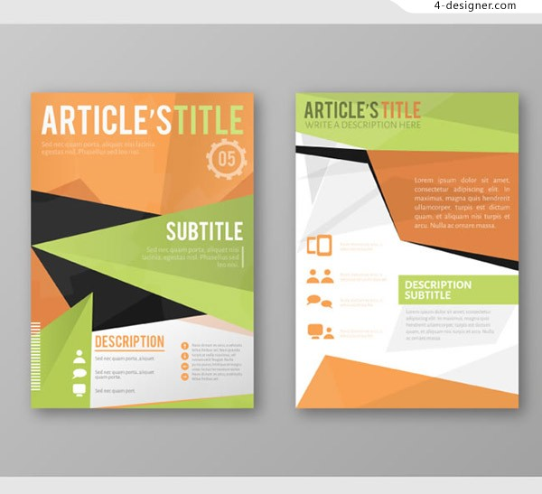 Business brochure vector