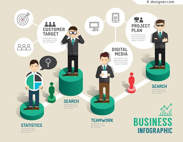 Business person information chart