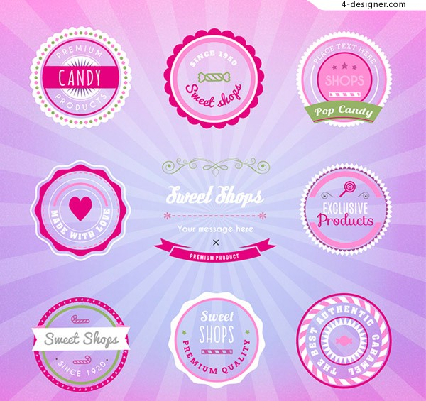 Candy store tag vector