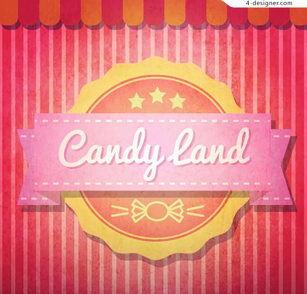 Candy world label