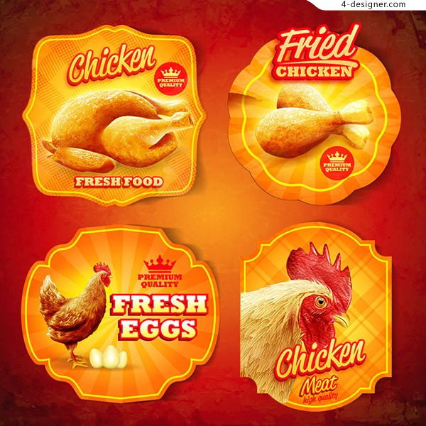 Chicken fast food label