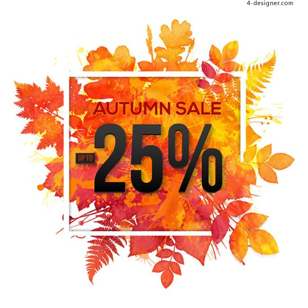 Color autumn leaves discount Poster