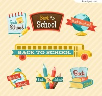 Color back to school label
