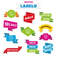 Color promotional label vector