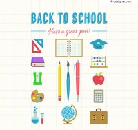 Color stationery vector