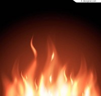 Combustion flame vector