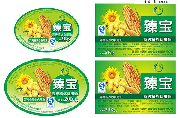 Corn oil packing label