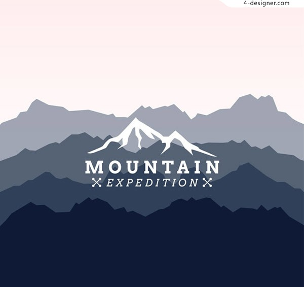 Creative mountain silhouette