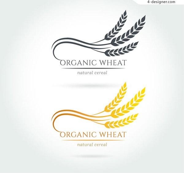 Curved wheat flag