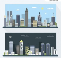 Day and night buildings