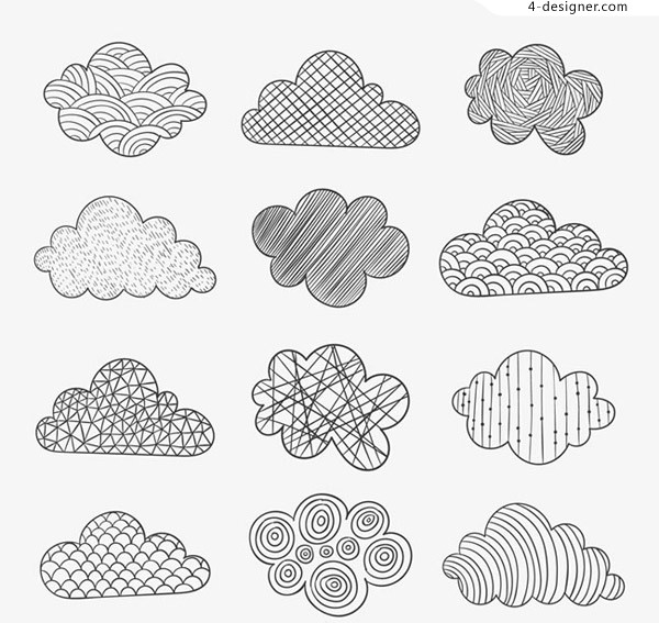 Draw the pattern cloud vector