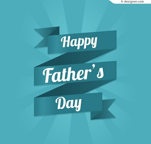 Father s Day ribbon greeting card