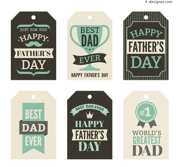 Father s Day tag vector
