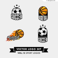 Football and basketball logo