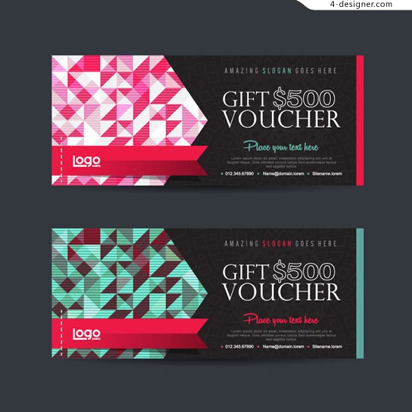 Gift coupon vector