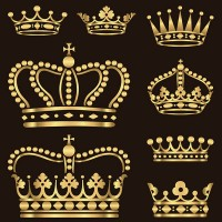 Golden texture crown