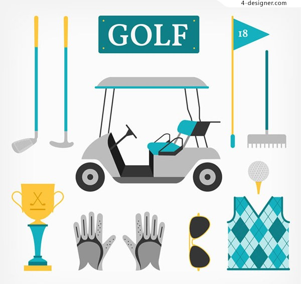 Golf element vector