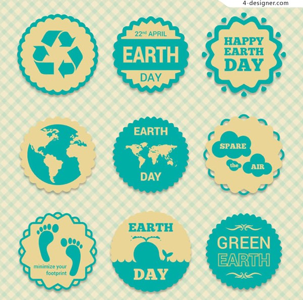Green Earth Day label