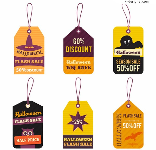Halloween promotion tag