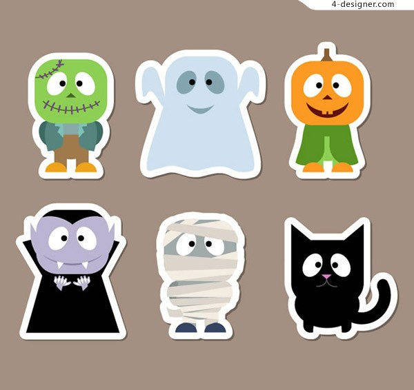 Halloween role stickers