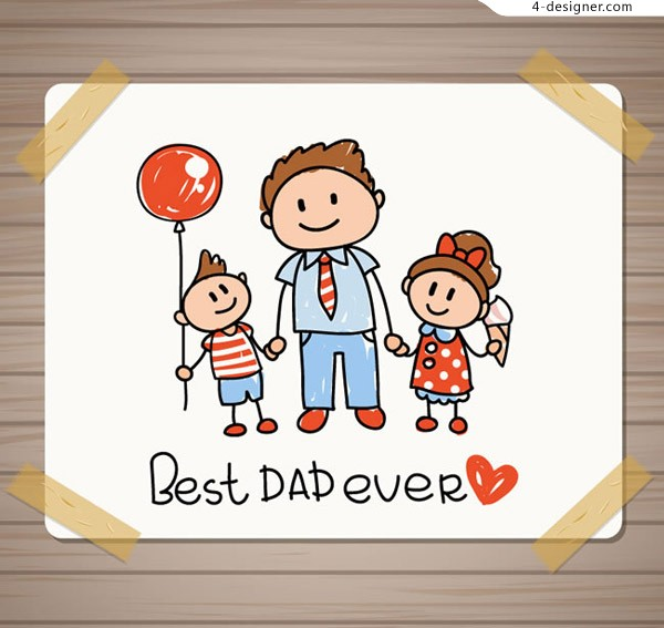 Hand drawn father s Day card