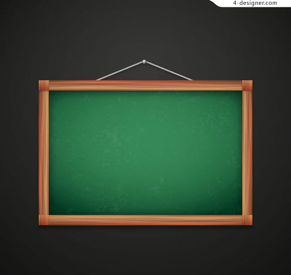 Hanging blackboard vector