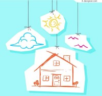 House clip drawing vector