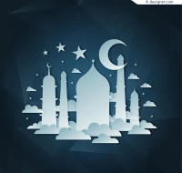 Islamic architecture clip art