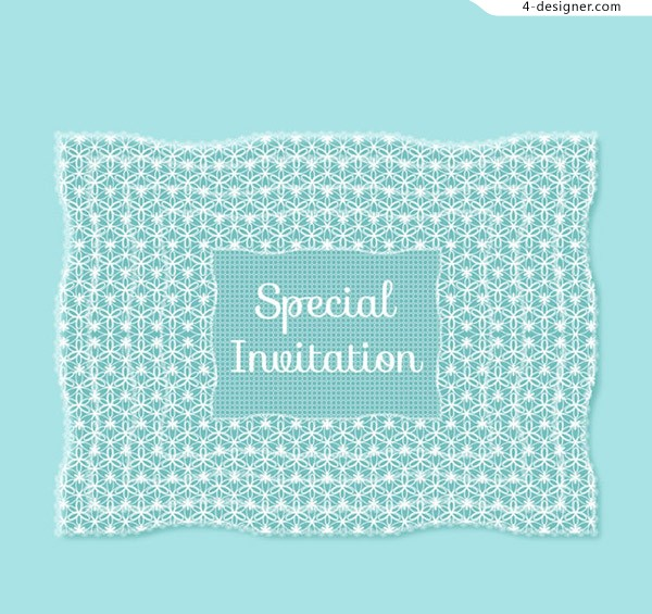 Lace invitation card vector