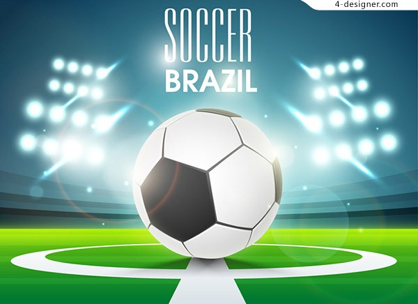 Lighting and soccer vector