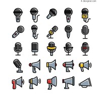 Microphone and horn Icon