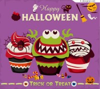 Monster cupcakes vector