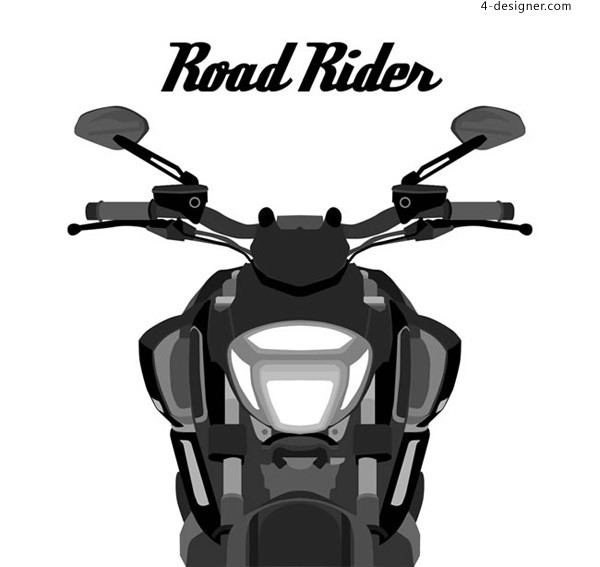 Motorcycle front view
