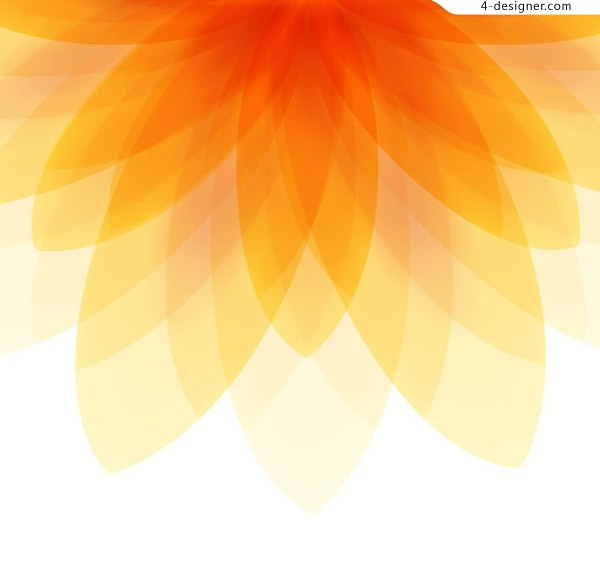 Orange flower shaped background