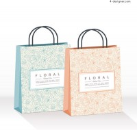 Pattern shopping bag vector