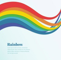 Rainbow curve background