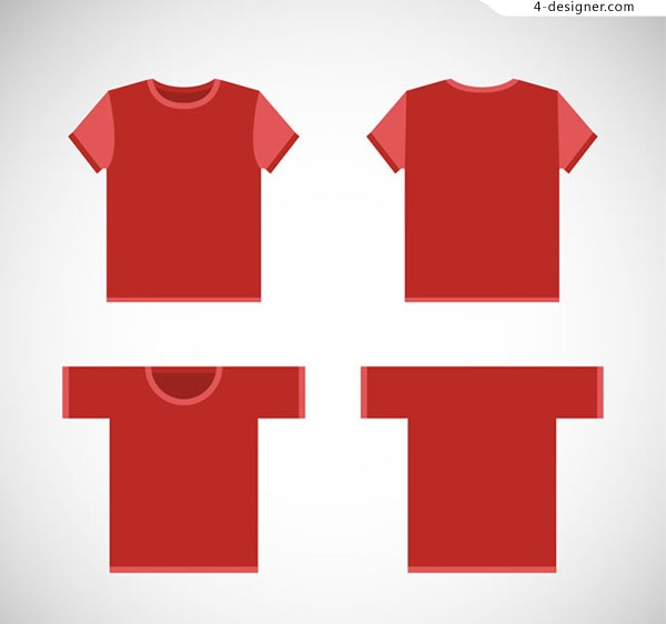 Red T shirt vector