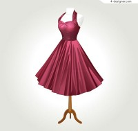 Red evening dress vector