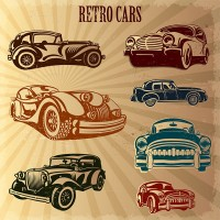 Retro Classic Car Vector