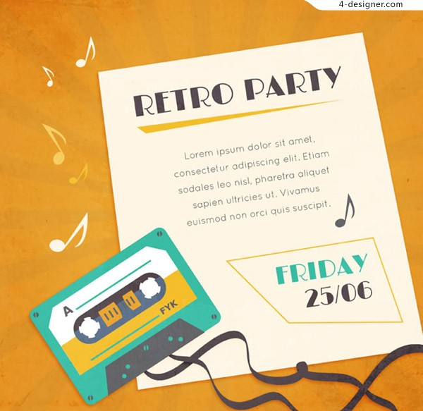 Retro tape party Poster